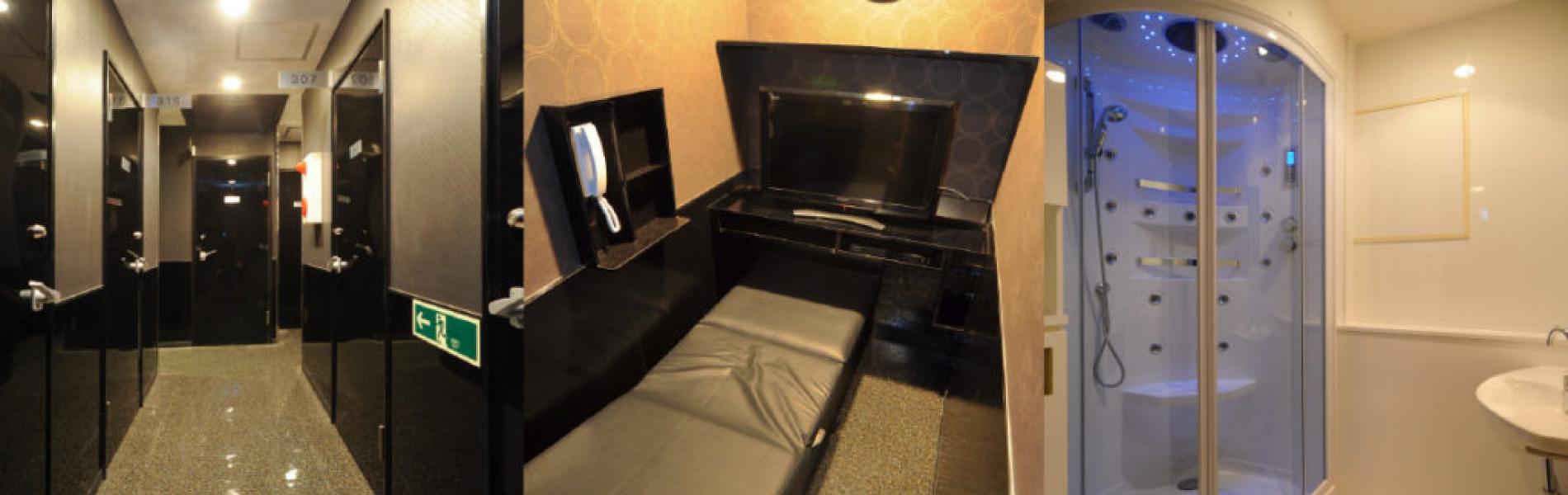 完全個室の待機スペース